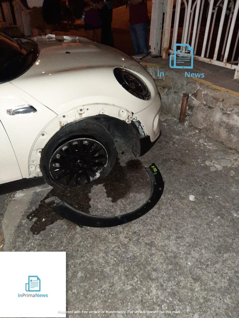 Incidente Nocera Superiore gamba amputata con logo